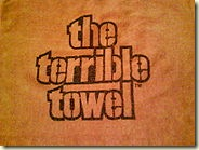 Original commercially marketed Terrible Towel, sold exclusively by Gimbel's Department Store, 1976